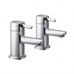 Arley 237ES005-NV Eazee Square Basin Taps Pair